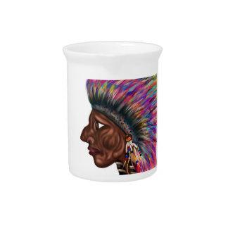 Native American Head Pitchers