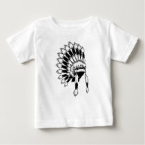 Native American headdress Baby Fine Jersey T-Shirt