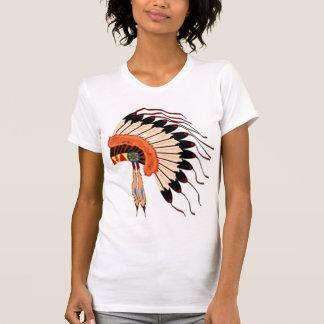 native american headress tshirt