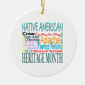 Native American Heritage Month Ceramic Ornament