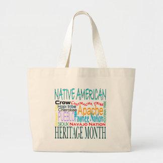 Native American Heritage Month Large Tote Bag