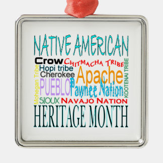 Native American Heritage Month Metal Ornament