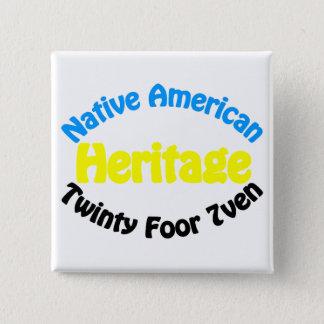 Native American Heritage - Twinty Foor 7ven Pinback Button