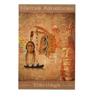 Native American Heritage Wood Wall Art