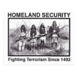 Native American Homeland Security Gifts Post Card