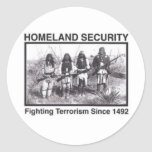 Native American Homeland Security Gifts Classic Round Sticker
