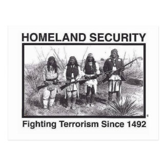 Native American Homeland Security T-shirts Postcard