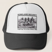 Native American Homeland Security T-shirts Trucker Hat