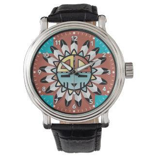 Native American Hopi Kachina Tribal Art Design Watch