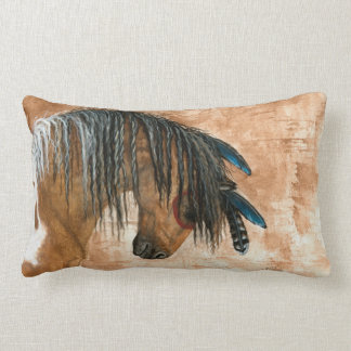 Native American Horse by BiHrle Pillow