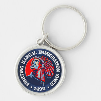 Native American (Illegal Immigration) Keychain