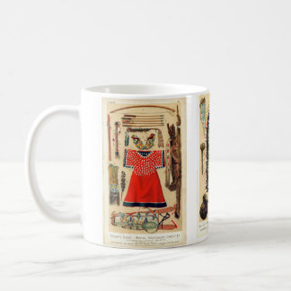 Native American implements and attire Classic White Coffee Mug