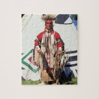 Native American in traditional garments at Jigsaw Puzzle