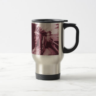 Native American Indian 15 Oz Stainless Steel Travel Mug