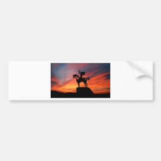 Native American Indian and horse Bumper Sticker