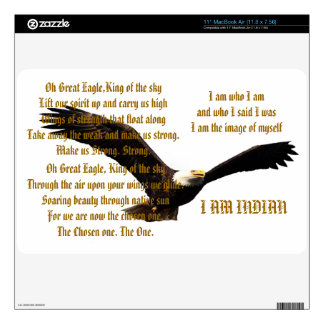 Native American Indian Anthem Decal For MacBook