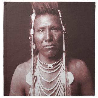 Native American Indian, Ben Long Ear Cloth Napkin