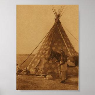 Native American Indian Blackfoot TeePee Art Poster