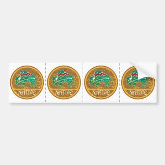 Native American Indian Buffalo Bumper Sticker