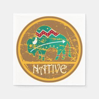Native American Indian Buffalo Napkin