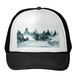 Native American Indian Camp 1890s Trucker Hat