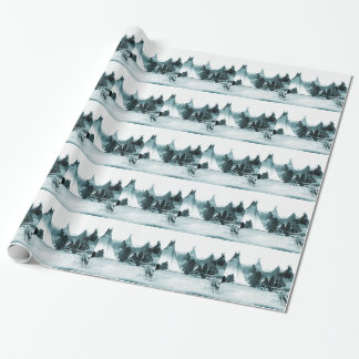 Native American Indian Camp 1890s Gift Wrap Paper