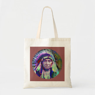 Native American Indian Chief Canvas Bags