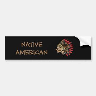 Native American Indian Chief Bumper Sticker
