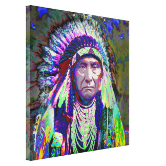 Native American Indian Chief Canvas Print