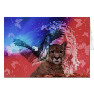 Native American Indian Chief Card