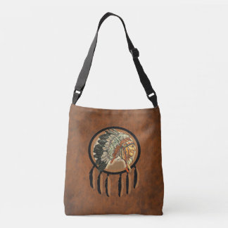 Native American Indian Chief Crossbody Bag
