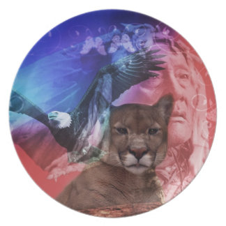 Native American Indian Chief Dinner Plate