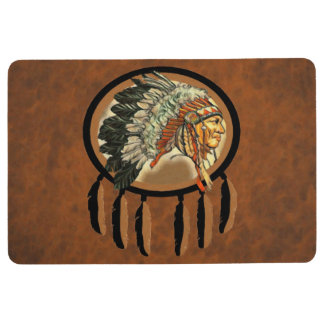 Native American Indian Chief Floor Mat