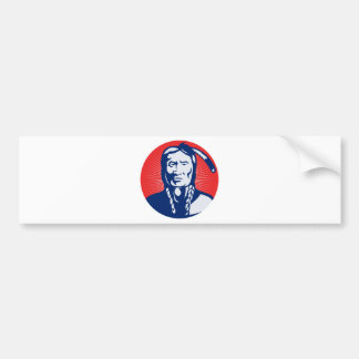 native american indian chief front view bumper stickers