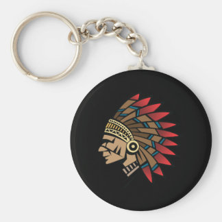 Native American Indian Chief Keychain