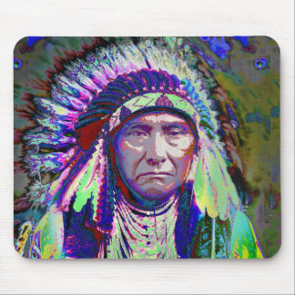 Native American Indian Chief Mouse Pad