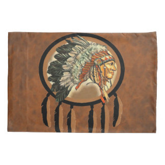 Native American Indian Chief Pillowcase