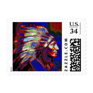 Native American Indian Chief Postage