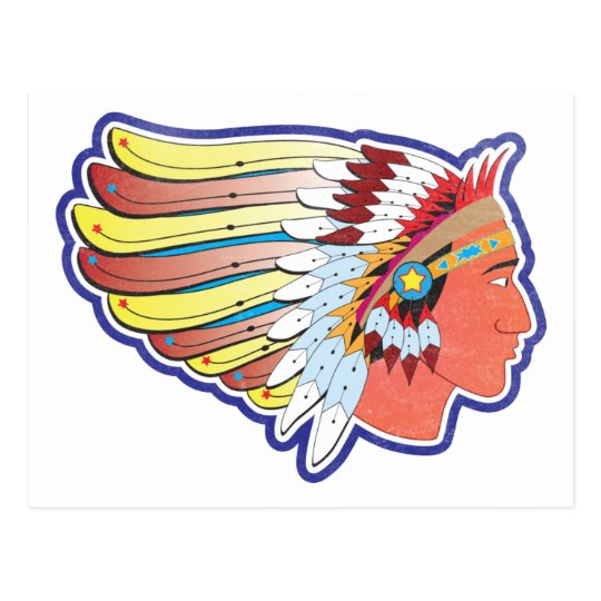 Native American Indian Chief Postcard