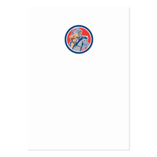 Native American Indian Chief Riding Horse Cartoon Large Business Cards (Pack Of 100)