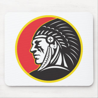 Native American Indian Chief Side Mousepads