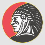Native American Indian Chief Side Stickers