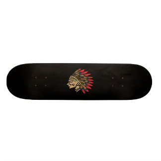 Native American Indian Chief Skateboard Deck