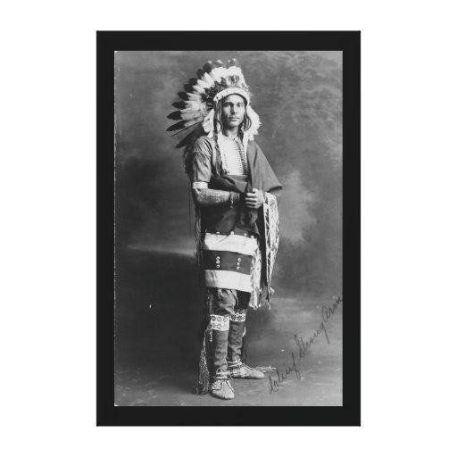 Native American Indian Chief Strong Arm Circa 1909 Canvas Print