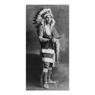 Native American Indian Chief Strong Arm Circa 1909 Card