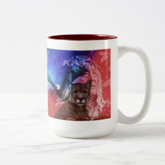 Native American Indian Chief Two-Tone Coffee Mug