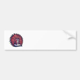 Native American Indian Chief Warrior Retro Bumper Sticker