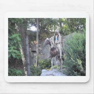 Native American Indian Chief with Horse Mousepads