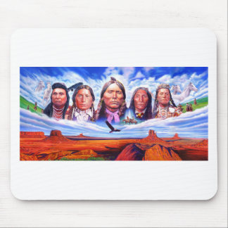 native american indian chiefs mouse pad
