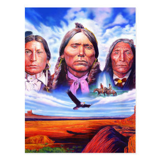 native american indian chiefs postcard